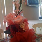The bouquet I put together for my Mother, complete with a surprise inside!