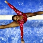 US Olympic gymnast Gabrielle &quot;Gabby&quot; Douglass, doing what she does best.